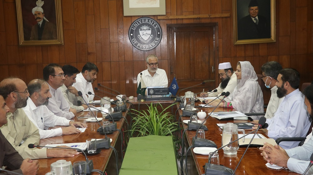 VC, University of Peshawar, Prof. Dr. Muhammad Abid chairing a meeting of the PUTA Executive members and different Administrative Heads