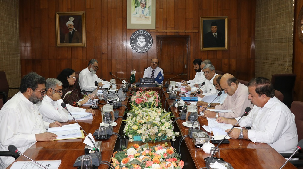The Vice Chancellor University of Peshawar is chairing the meeting of Advanced Studies and Research Board to review the research and policy matters associated with in on 19th September, 2018