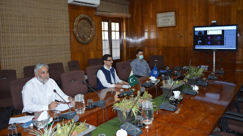 Vice Chancellor Professor Dr Muhammad Idrees presiding over the 7th ASRB meeting of 2021.