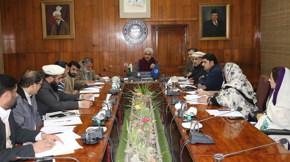 Pro-vice chancellor Prof.Dr.Johar Ali is presiding over the preparatory meeting for upcoming BS convocation for the sessions 2011-15 and 2012-16 to be held on 13 february, 2019.