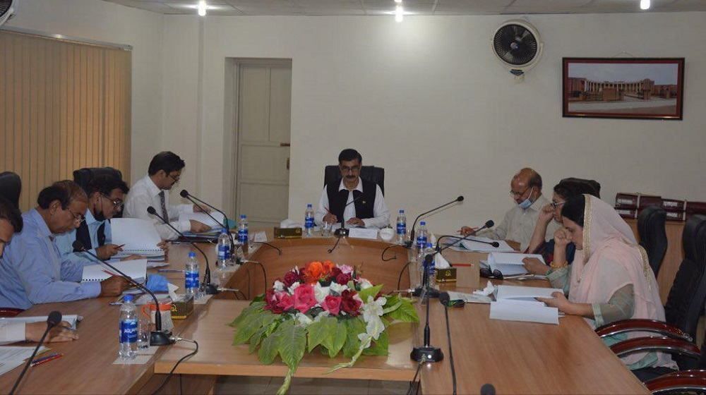 Vice Chancellor Prof. Dr. Muhammad Idrees presiding over a meeting of Board of Governors( BoG) at National Centre of Excellence in Geology, University of Peshawar.