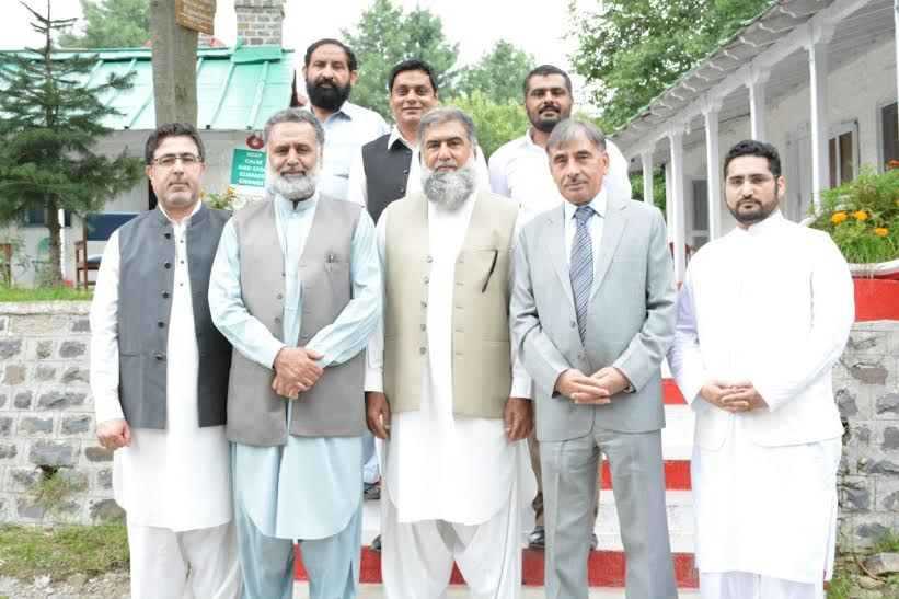 Vc UoP Prof. Dr. Muhammad Rasul jan in group photo with delegates of International Workshop on Interfaith Harmony at Baragali summer campus, UoP