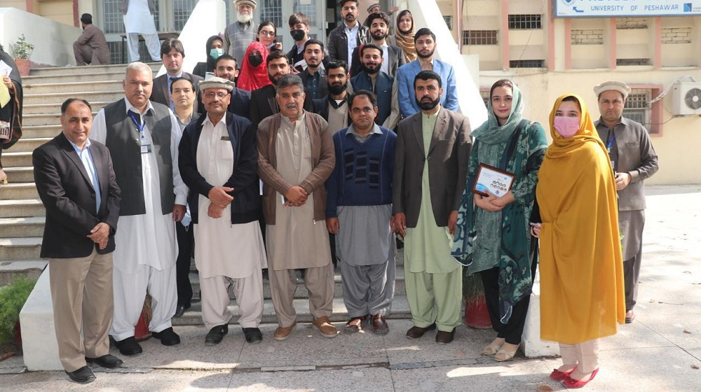 Certificate distribution ceremony held at provost office. 31 Students got the certificates for Environment Society. Provost Dr Fazal Sher, Dr Jamal Nasir, Dr Mohammad Nafees, Dr Anwar Saeed, Dr Asif Khan, Dr Shehla , Dr Neelam and Sheraz Alam graced the event.