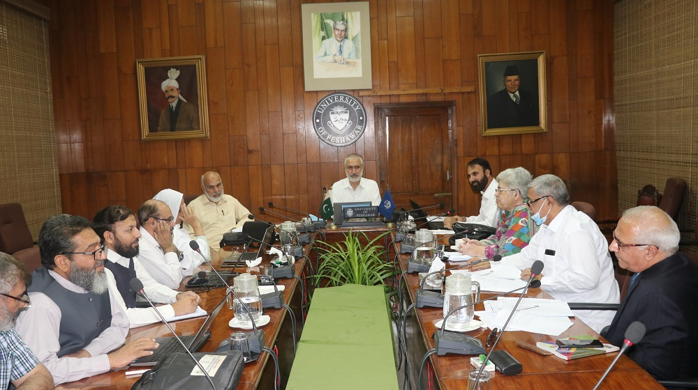 Vice Chancellor University of Peshawar Prof. Dr. Muhammad Abid Chairs the meeting of ASRB