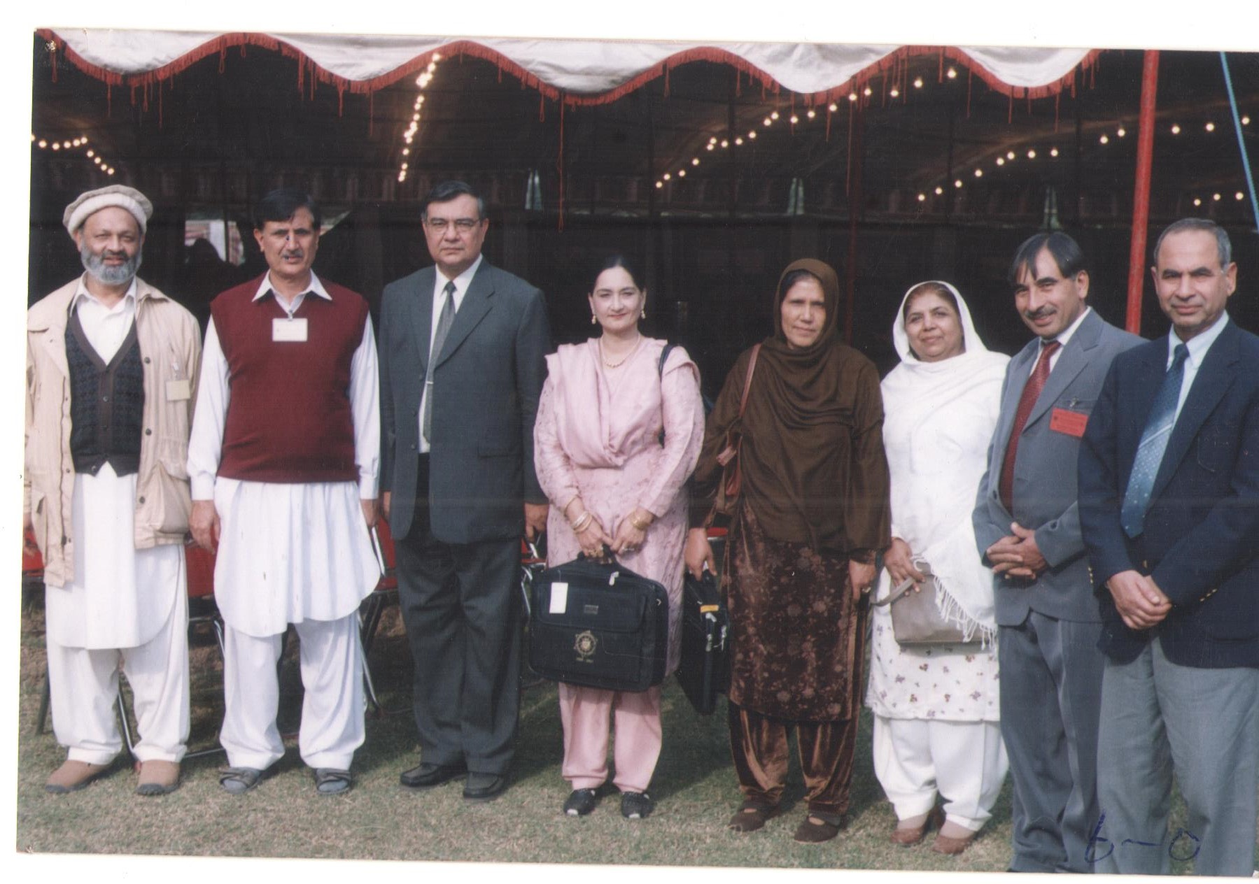 Group photo with the Vice Chancellor University of Peshawar Prof. Dr. Rasul Jan