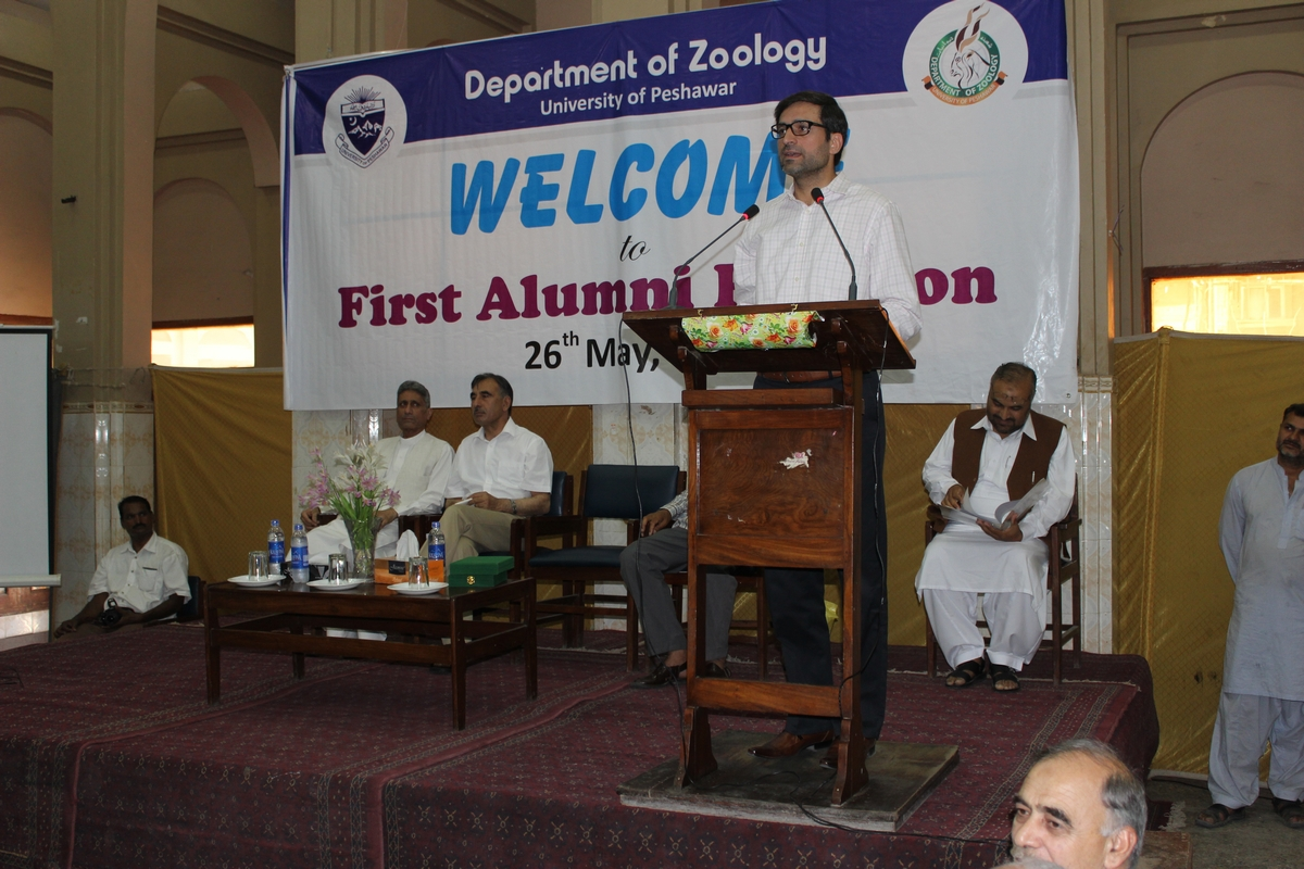 Coordinator University of Peshawar Alumni Association (UOPAA) Dr. Syed Hussain Shaheed Soherwordi