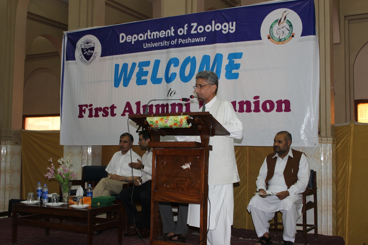Chairman, Department of Zoology Prof. Dr. Inayat Ali Shah Jehan