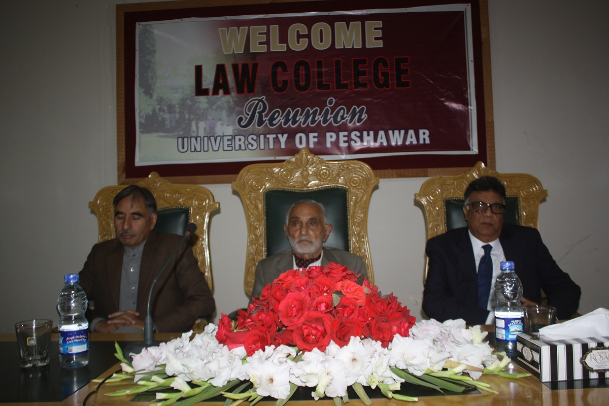Vice Chancellor University of Peshawar Prof. Dr. Rasul Jan with Principal, Khyber Law College, Prof. Dr. Fayyaz ur Rehman