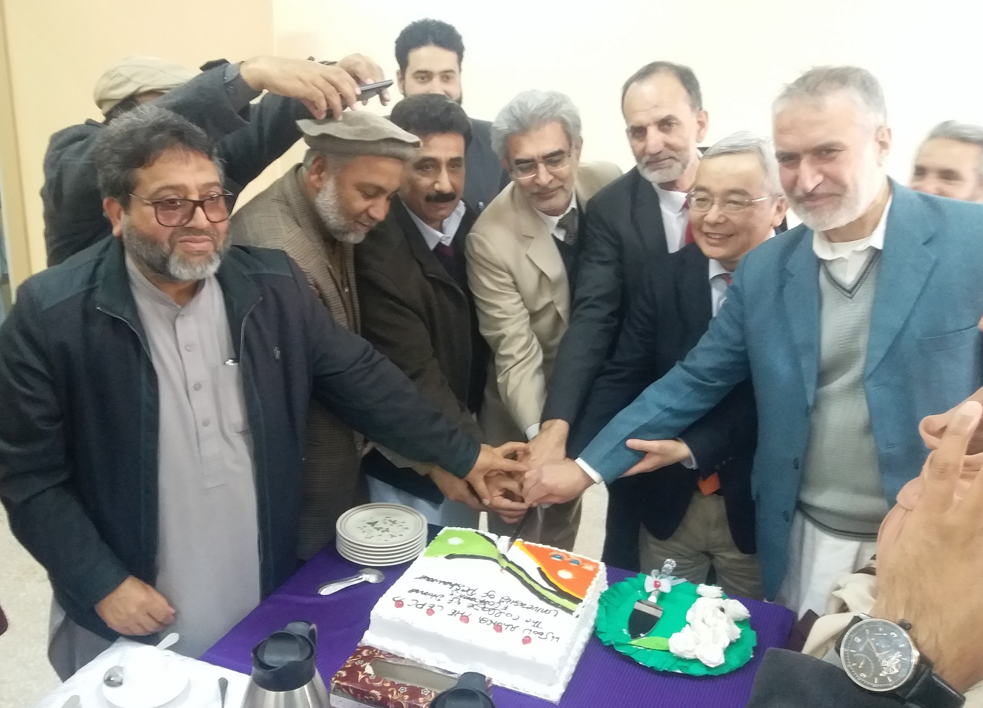 CAKE CUTTING CEREMONY IN CONFERENCE