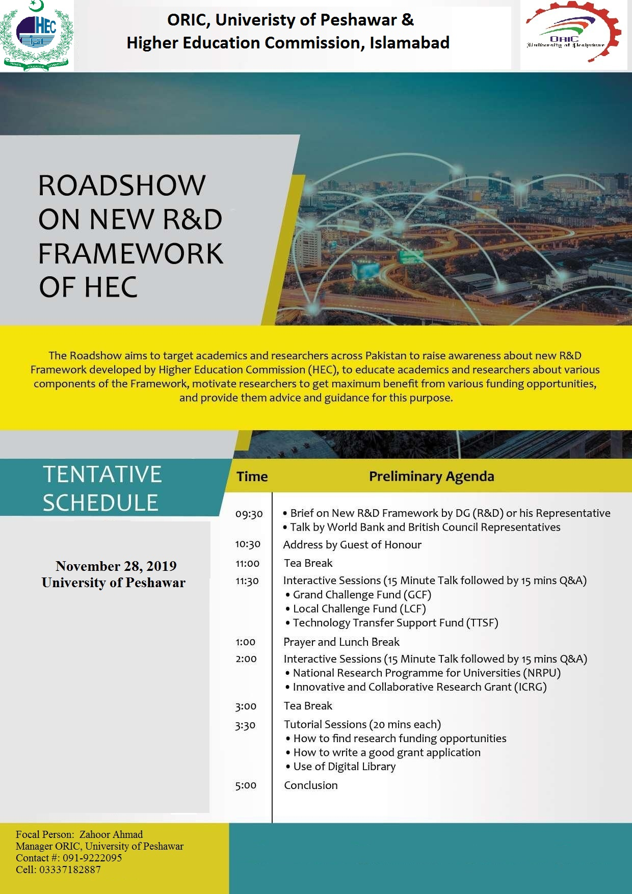 Road Show on New R&D Framework of HEC, Pakistan