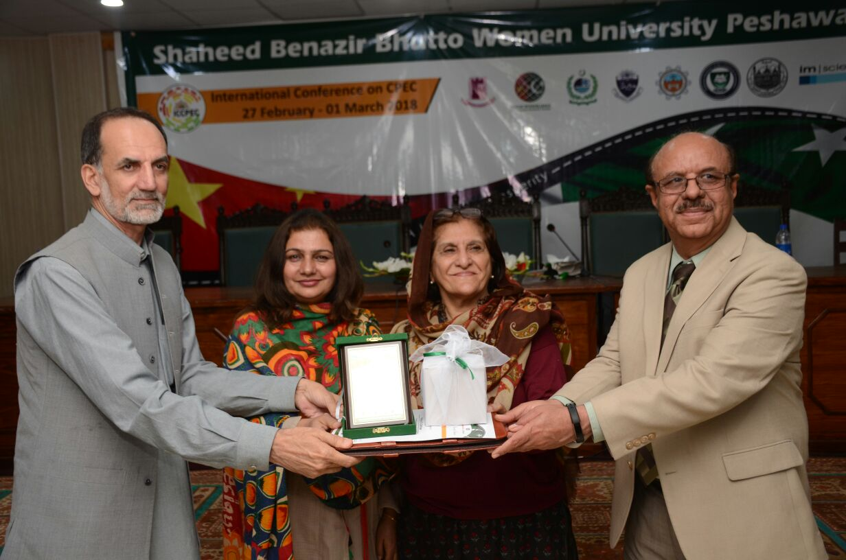 Prof. Dr. Zahid Anwar is Receiving shield as Focal person