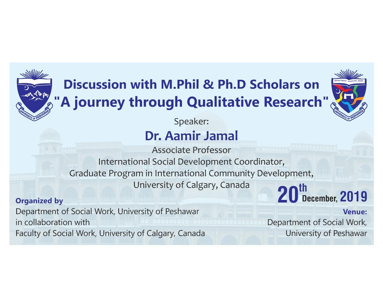 A journey through Qualitative Research