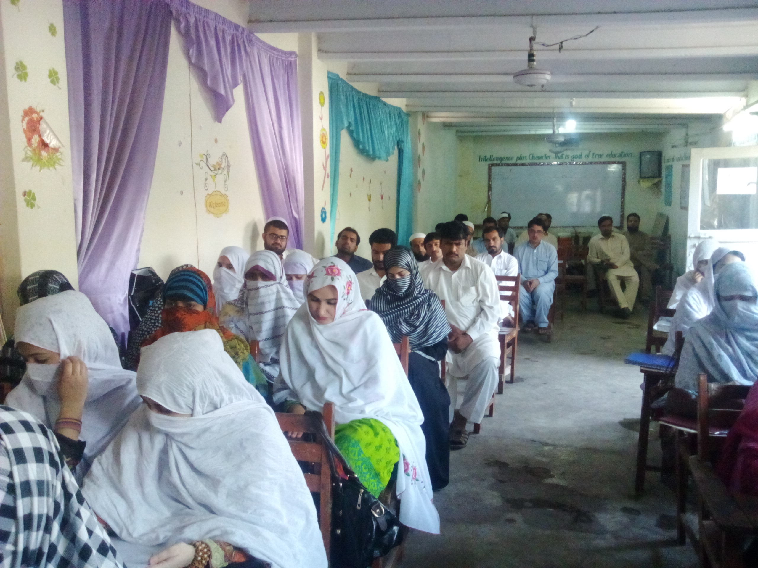 Prize Distribution ceremony at Muslim Learning Academy, Pabbi Center by Director Distance Education.