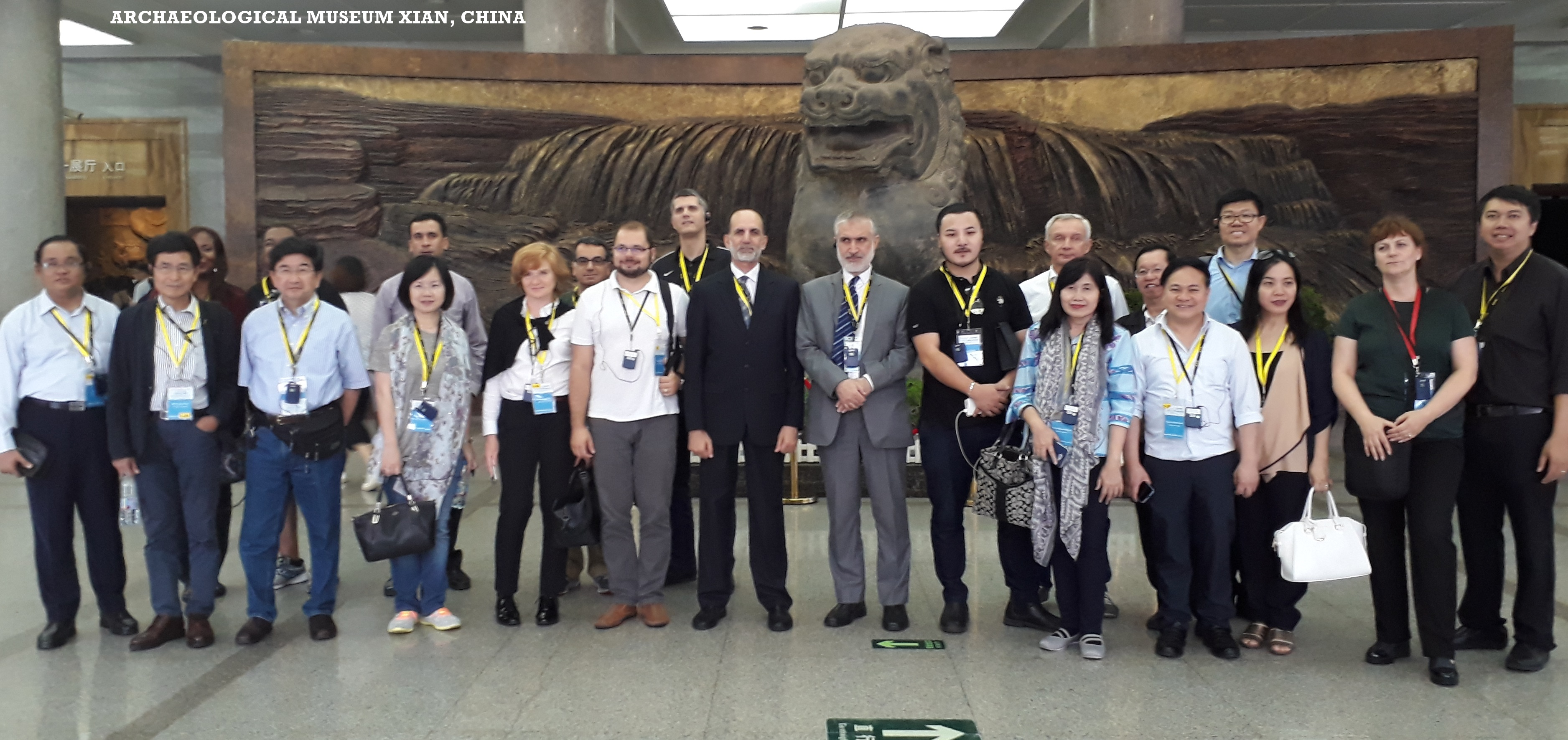 ONE BELT FORUM PARTICIPANTS IN XIAN MUSEUM