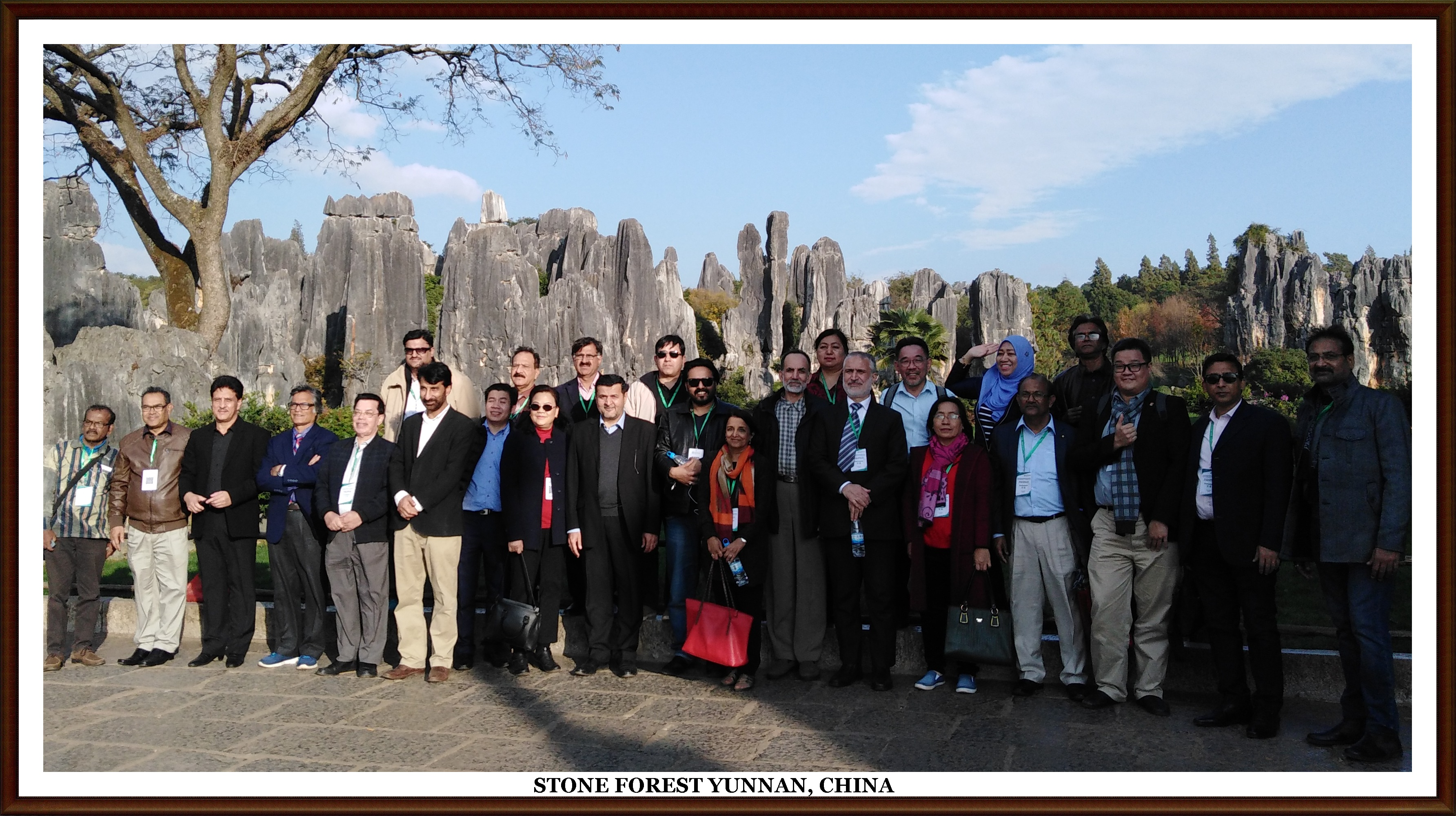 Group Photo at Stone Forest