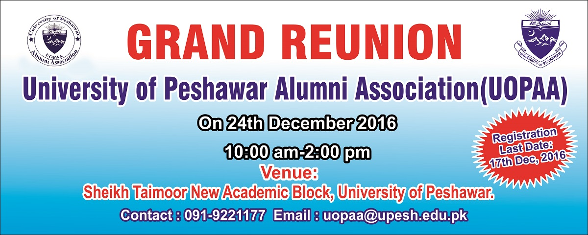 Grand Reunion of the University of Peshawar Alumni Association (UOPAA)