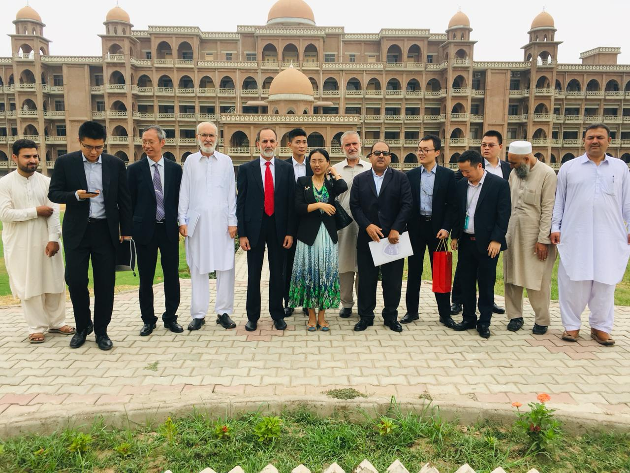 Group Photo with DG China Embassy Islamabad