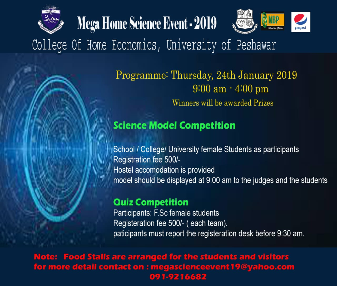 Mega Home Science Event 2019