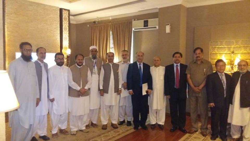 Chinese delegation with Minister of education, secretary of education and Vice Chancellors of KP Universities